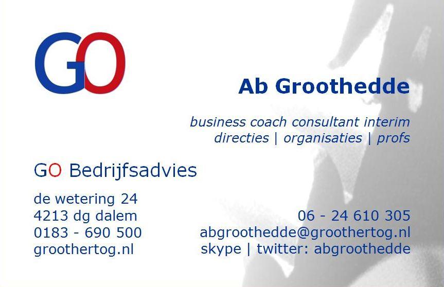 85 x 55 GO Bedrijfsadvies - Ab Groothedde -voorkant